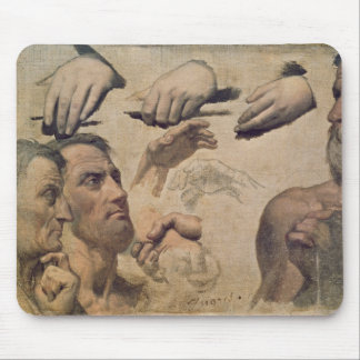 Study of Heads and Hands Mouse Pad