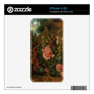 Study of Hollyhocks, c.1826 (oil on board) Decals For The iPhone 4S