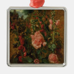 Study of Hollyhocks, c.1826 (oil on board) Christmas Tree Ornaments
