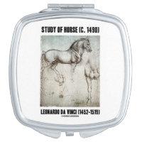 Study Of Horse (c. 1490) Leonardo da Vinci Compact Mirrors