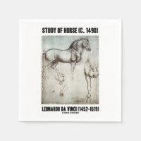 Study Of Horse (c. 1490) Leonardo da Vinci Standard Cocktail Napkin