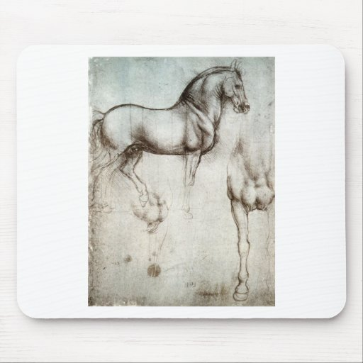 Study of horse. mouse mat