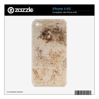 Study of Horsemen in Combat and Foot Soldiers, 150 iPhone 4 Decals