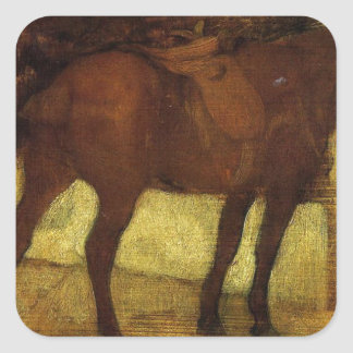 Study of Horses by Edgar Degas Square Sticker