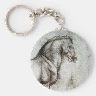 Study of Horses Keychain