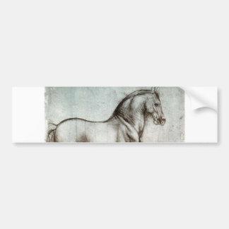 Study of horses - Leonardo da Vinci Bumper Sticker
