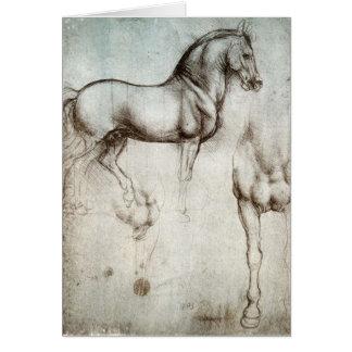 Study of horses - Leonardo da Vinci Greeting Card