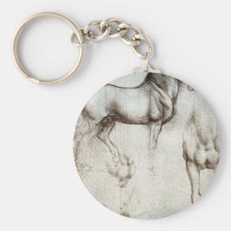 Study of horses - Leonardo da Vinci Keychain
