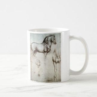 Study of horses - Leonardo da Vinci Basic White Mug