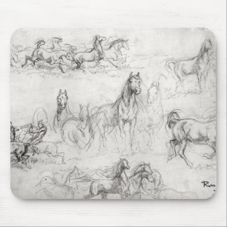 Study of Horses Mouse Pad