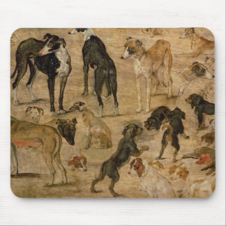 Study of Hounds, 1616 Mouse Pad