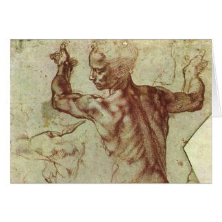 Study of Libyan Sibyl by Michelangelo Card