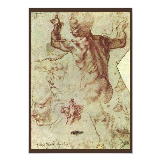 Study of Libyan Sibyl by Michelangelo Card