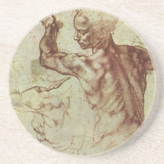 Study of Libyan Sibyl by Michelangelo Drink Coaster