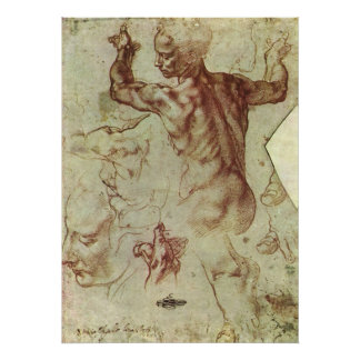 Study of Libyan Sibyl by Michelangelo Poster