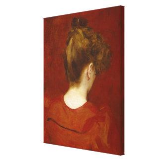 Study of Lilia, 1887 (oil on canvas) Canvas Print