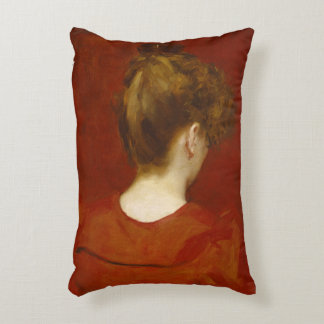 Study of Lilia, 1887 (oil on canvas) Accent Pillow