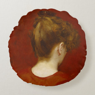 Study of Lilia, 1887 (oil on canvas) Round Pillow