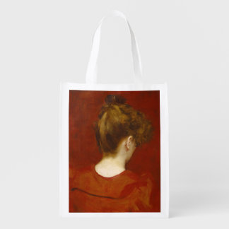 Study of Lilia, 1887 (oil on canvas) Reusable Grocery Bags