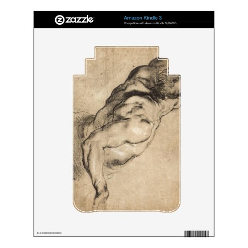 Study of man's torso by Paul Rubens Decal For Kindle 3