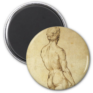 Study of Michelangelo's David Statue by Raphael Magnet
