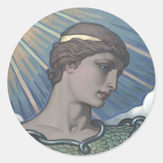 Study of Minerva Classic Round Sticker