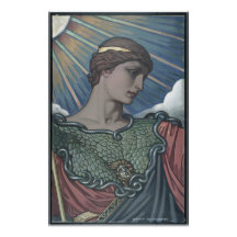 Study of Minerva Print