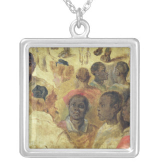 Study of Moorish Heads Personalized Necklace