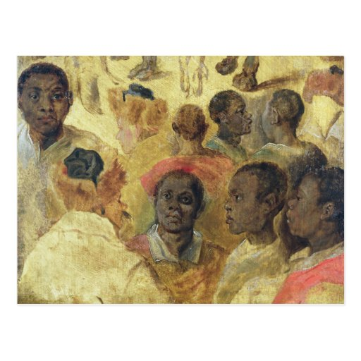 Study of Moorish Heads Postcard
