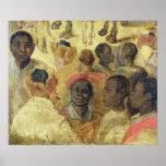 Study of Moorish Heads Poster