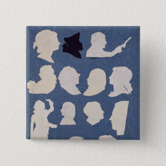 Study of Profiles and an Orator Pinback Button