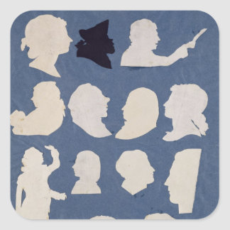 Study of Profiles and an Orator Square Sticker