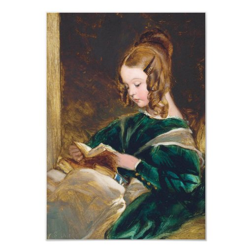 Study of Rachel Russell by Edwin Henry Landseer 3.5x5 Paper Invitation Card