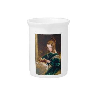 Study of Rachel Russell by Edwin Henry Landseer Beverage Pitcher