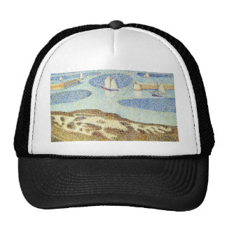 Study of Seurat's Entrance to the Outer Harbor Trucker Hat