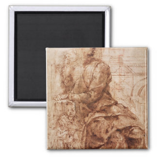 Study of Sibyl 2 Inch Square Magnet