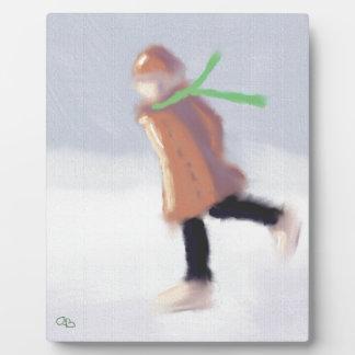 Study of Skater Art Plaque