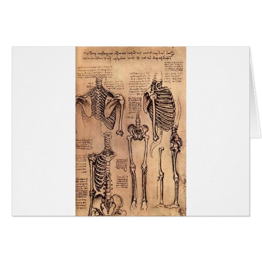 Study of Skeletons Card
