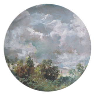 Study of Sky and Trees oil on canvas Dinner Plates