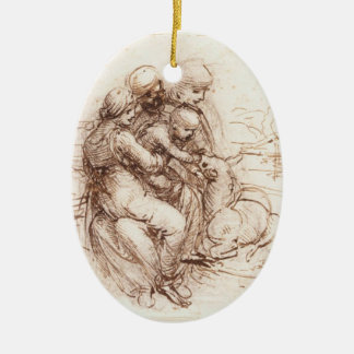 Study of St Anna St John Mary Christ Child Ornaments