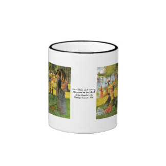 Study of Sunday Afternoon ~ Georges Seurat Ringer Coffee Mug