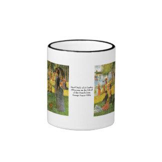 Study of Sunday Afternoon ~ Georges Seurat Ringer Mug