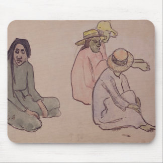 Study of Tahitians (w/c, ink & pencil on paper) Mouse Pad
