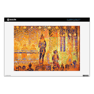 "Study of the circus parade by Georges Seurat 13"" Laptop Decal"