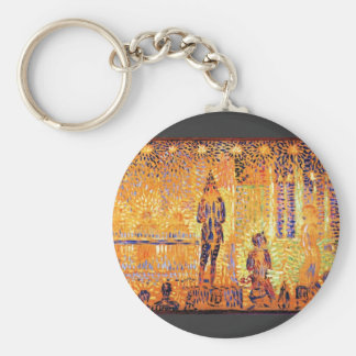 Study of the circus parade by Georges Seurat Keychains