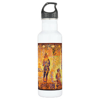 Study of the circus parade by Georges Seurat 24oz Water Bottle