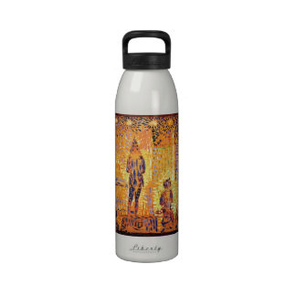 Study of the circus parade by Georges Seurat Drinking Bottle