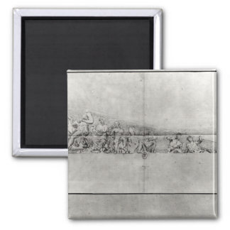 Study of the frieze from a pediment 2 inch square magnet