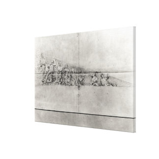 Study of the frieze from a pediment canvas print