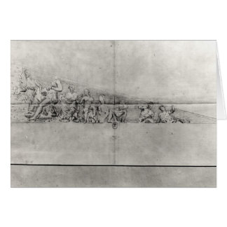 Study of the frieze from a pediment card